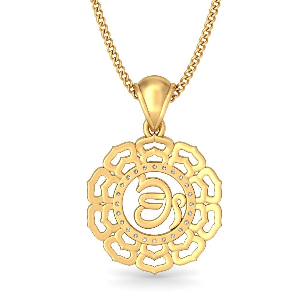 the ek onkar pendant bluestone