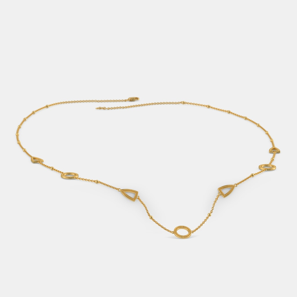Plain Gold Necklaces - Buy Plain Gold Necklace Designs Online in ...