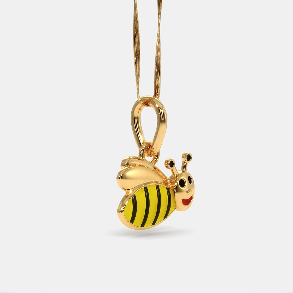 The bumble bee pendant for kids bluestone the bumble bee pendant for kids aloadofball Image collections