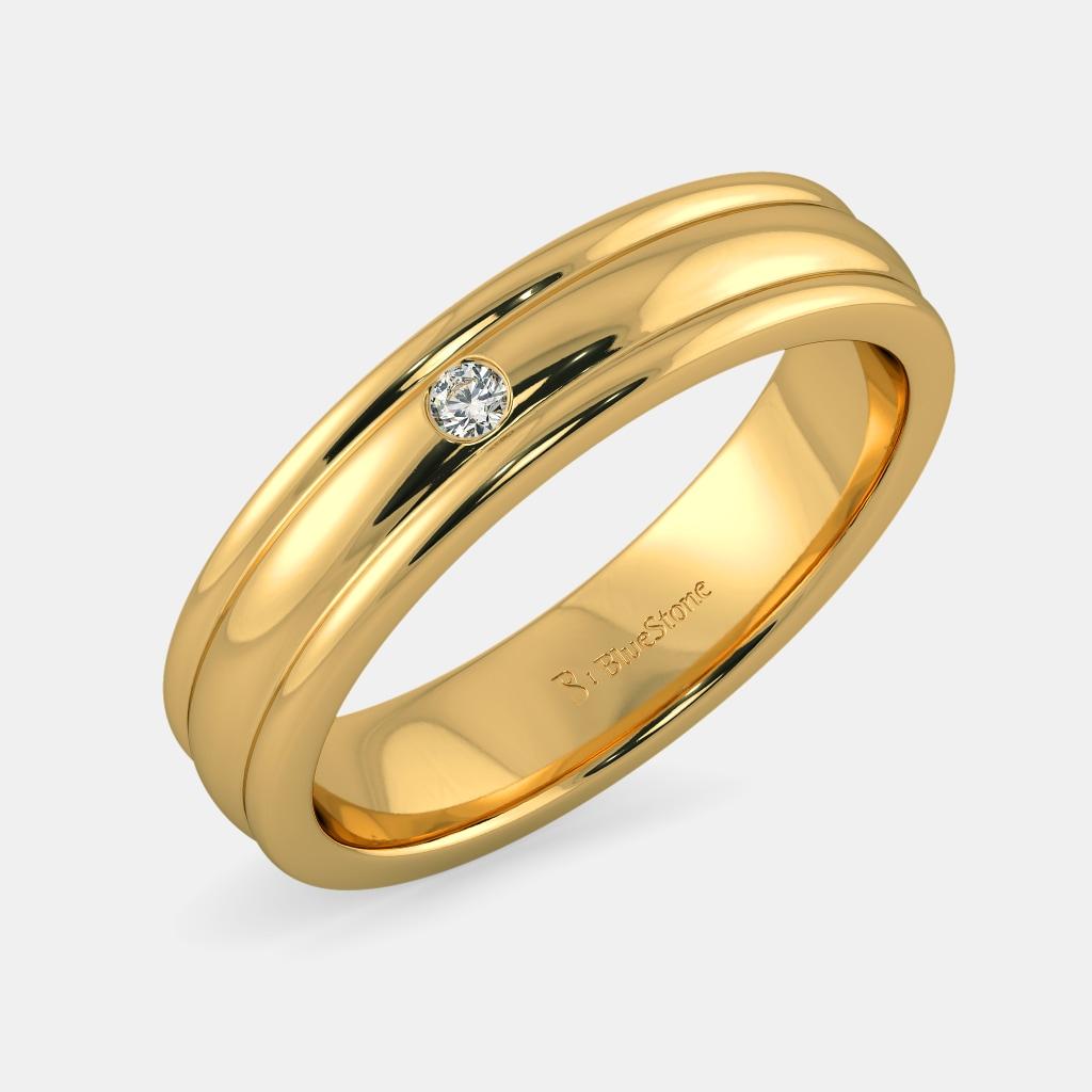 Buy 50+ Men\'s Gold Anniversary Ring Designs Online in India 2018 ...