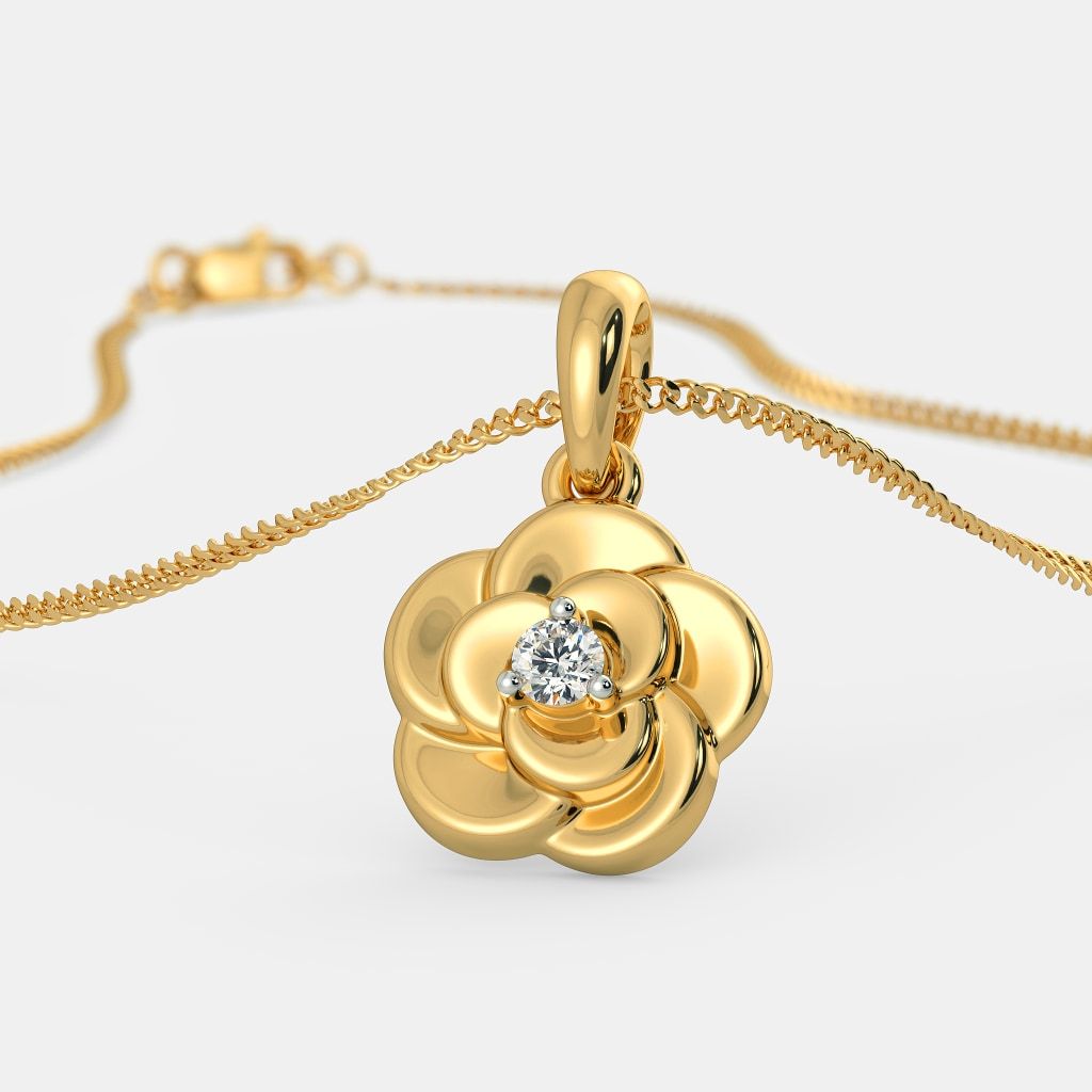 products the glow colors lotus statement necklace chain flower in choker dark grande pendant charm zentranquil