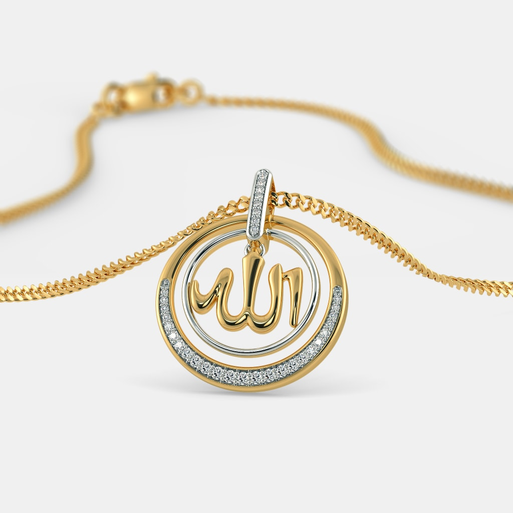 Buy gold allah pendant designs online in india 2018 bluestone the shumayl pendant aloadofball Choice Image