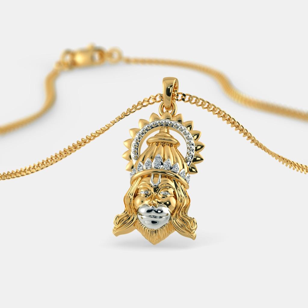The jai hanuman pendant bluestone the jai hanuman pendant aloadofball Images