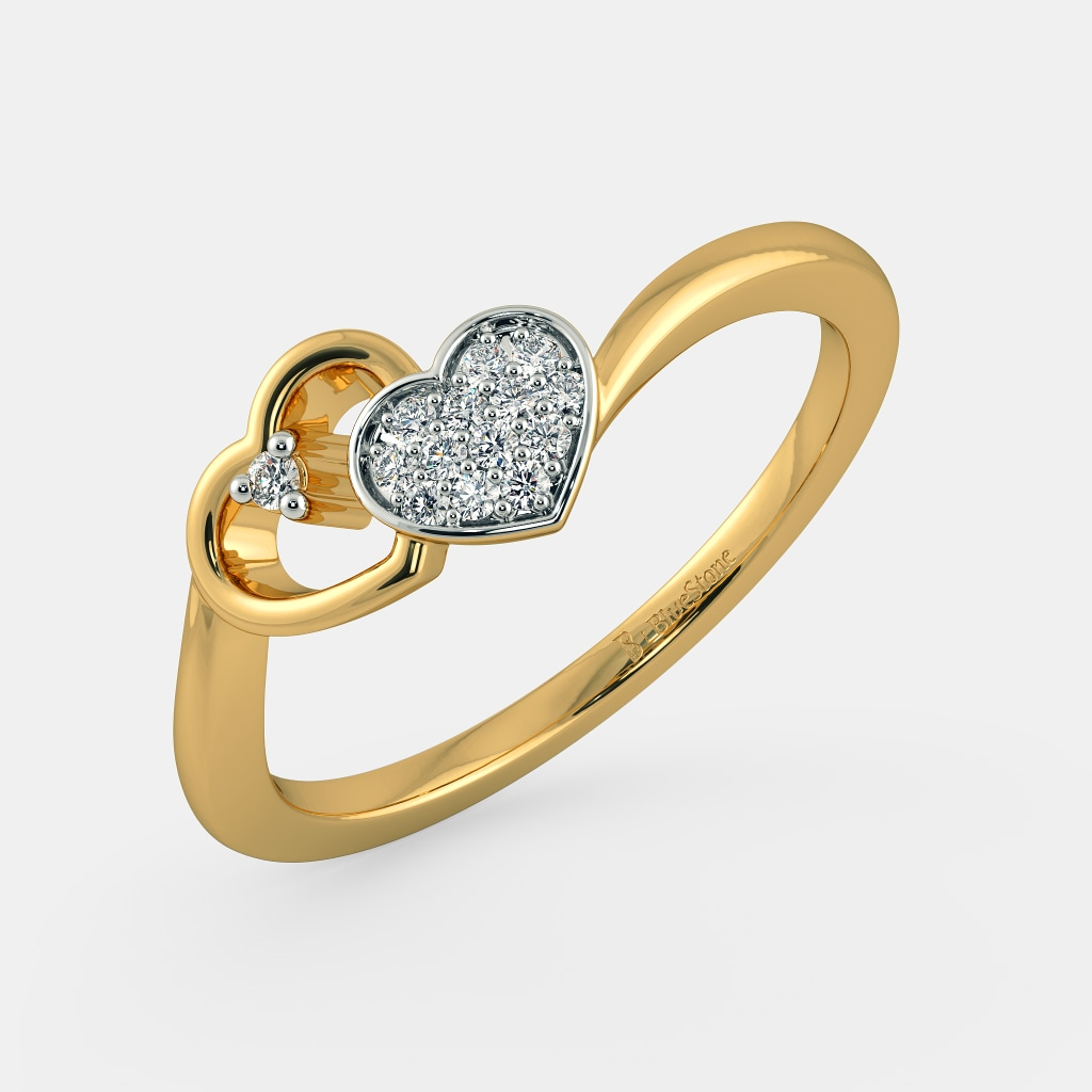 White And Yellow Gold Ring Designs
