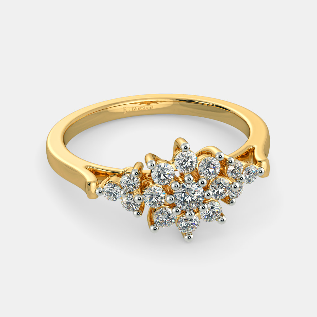 clusters amp image marquise cocktail jewellery ring gold diamond round white rings