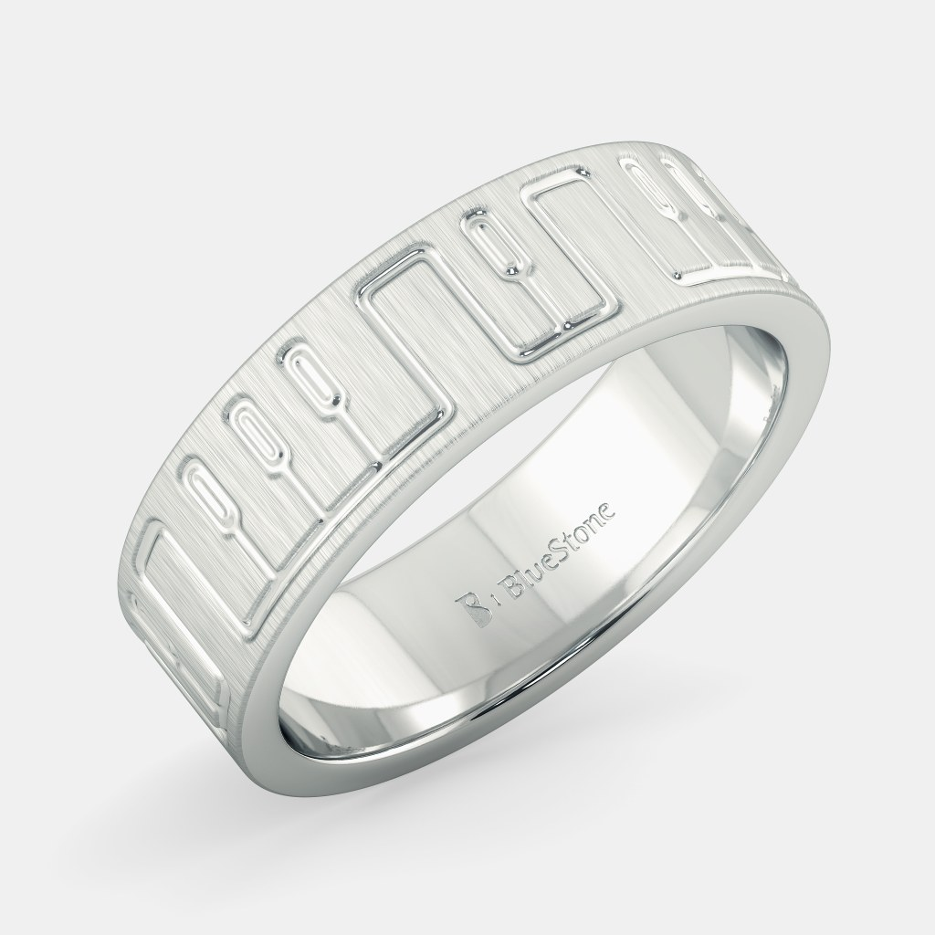 products bands men ring jewelove plain pto matte finish sj for wedding with rings platinum
