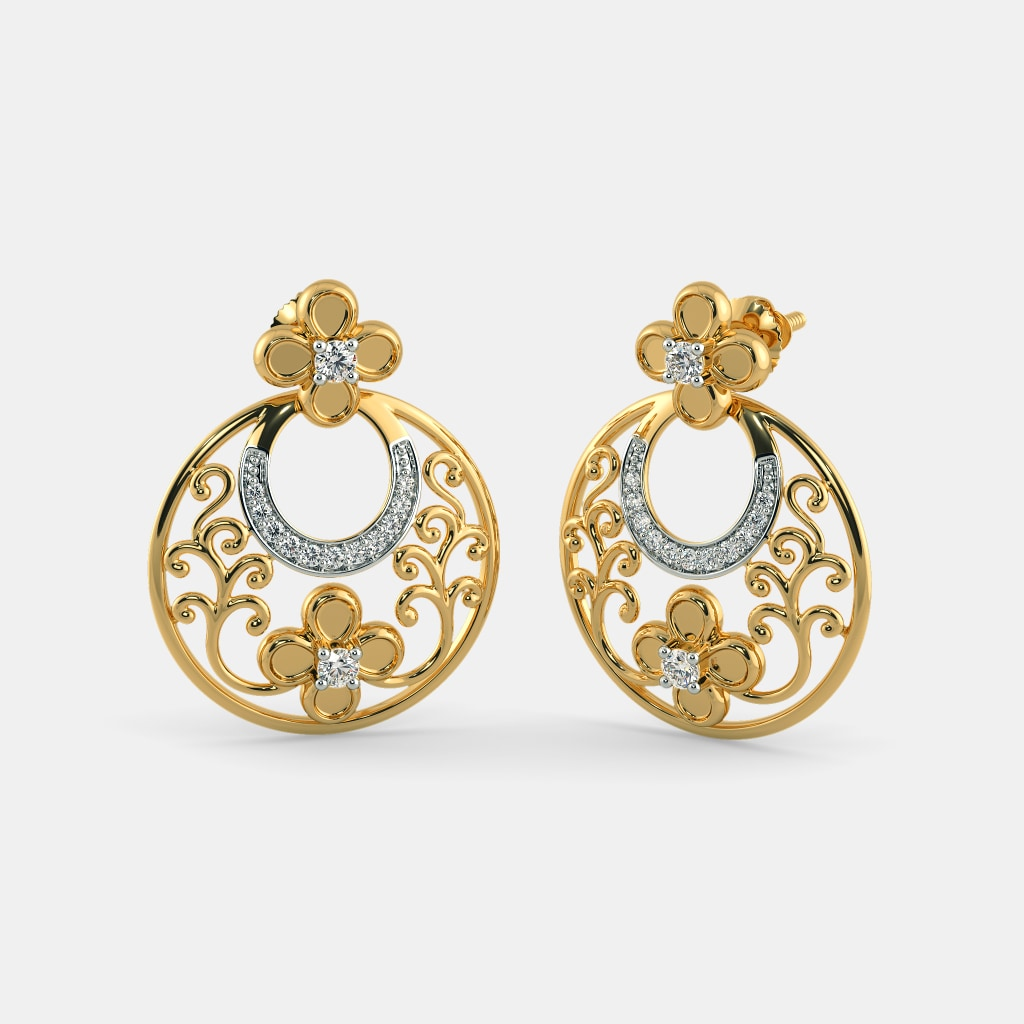 balis earrings the dilkash chand bali earrings bluestone 8963