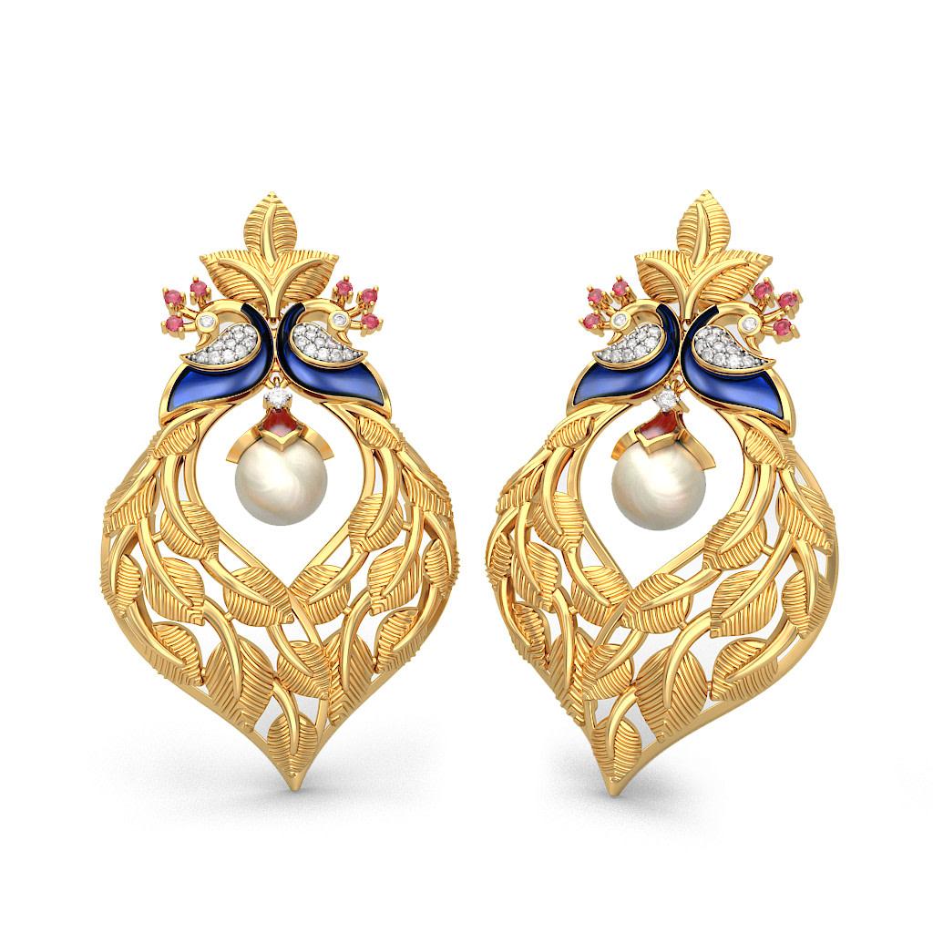 The Afreen Earrings Bluestone