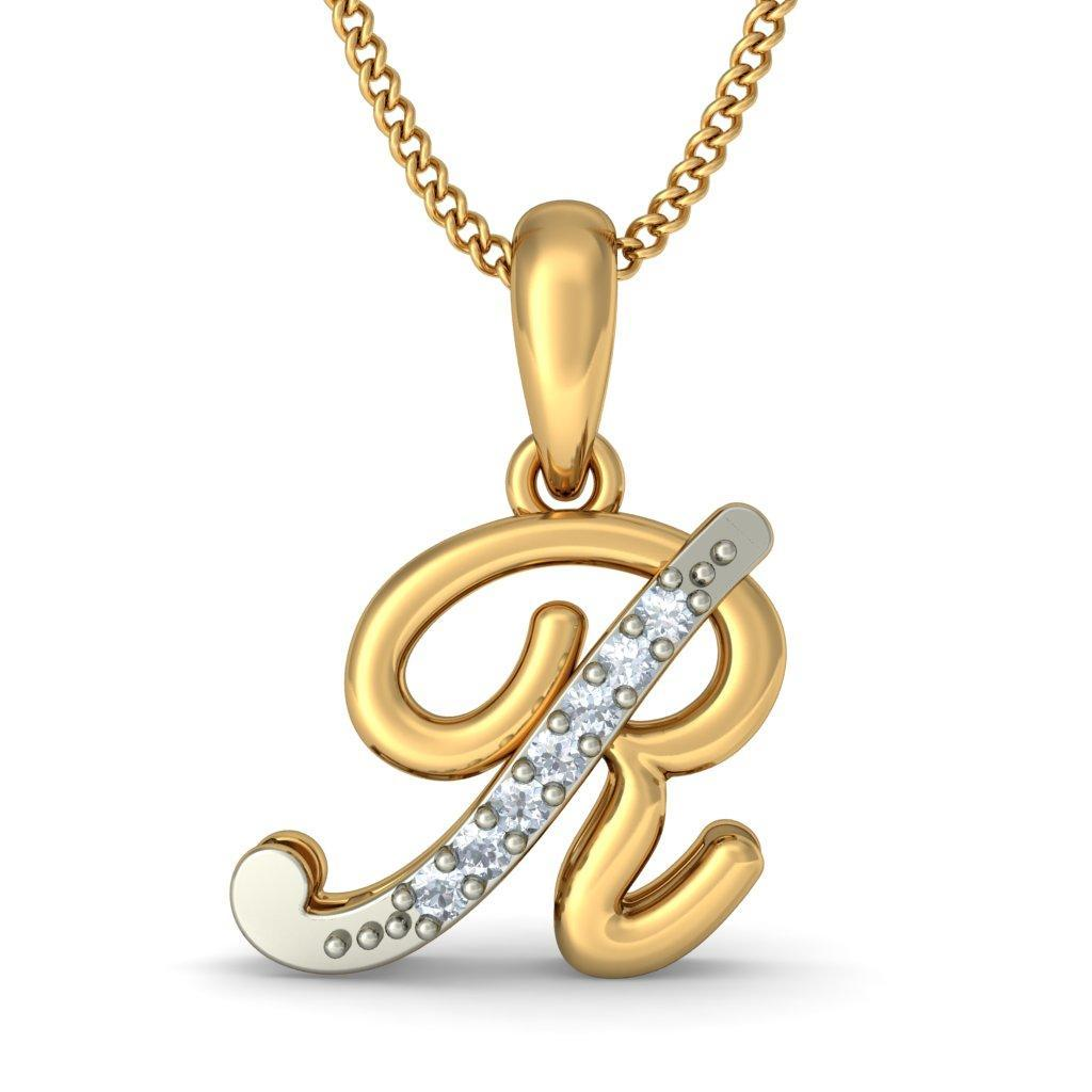 Alphabet pendants buy 50 alphabet pendant designs online in the liham r pendant mozeypictures Images
