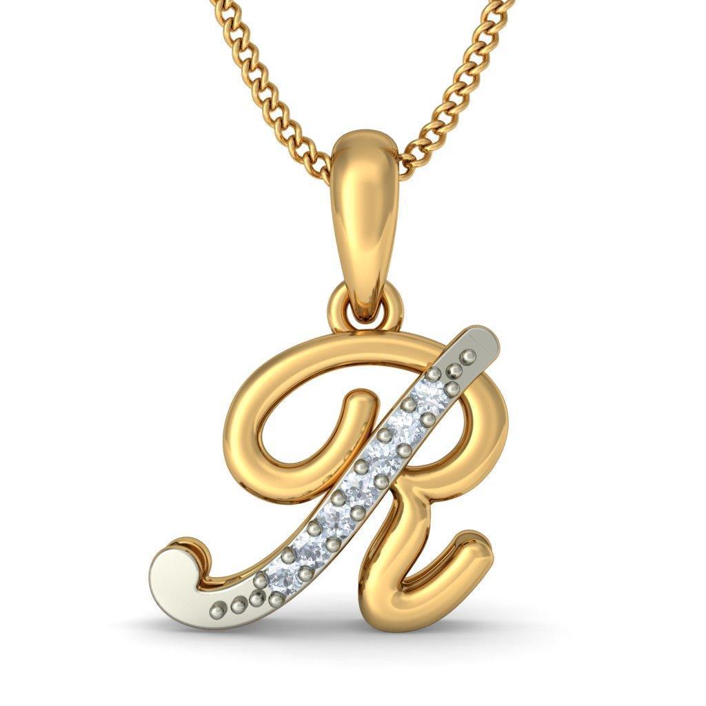 Alphabet Pendants - Buy 50+ Alphabet Pendant Designs Online in ...