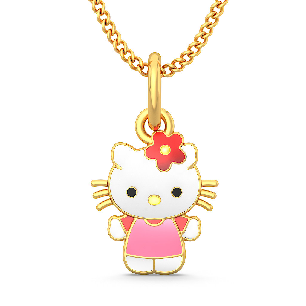 The kitty pendant for kids bluestone the kitty pendant for kidsfront aloadofball Choice Image