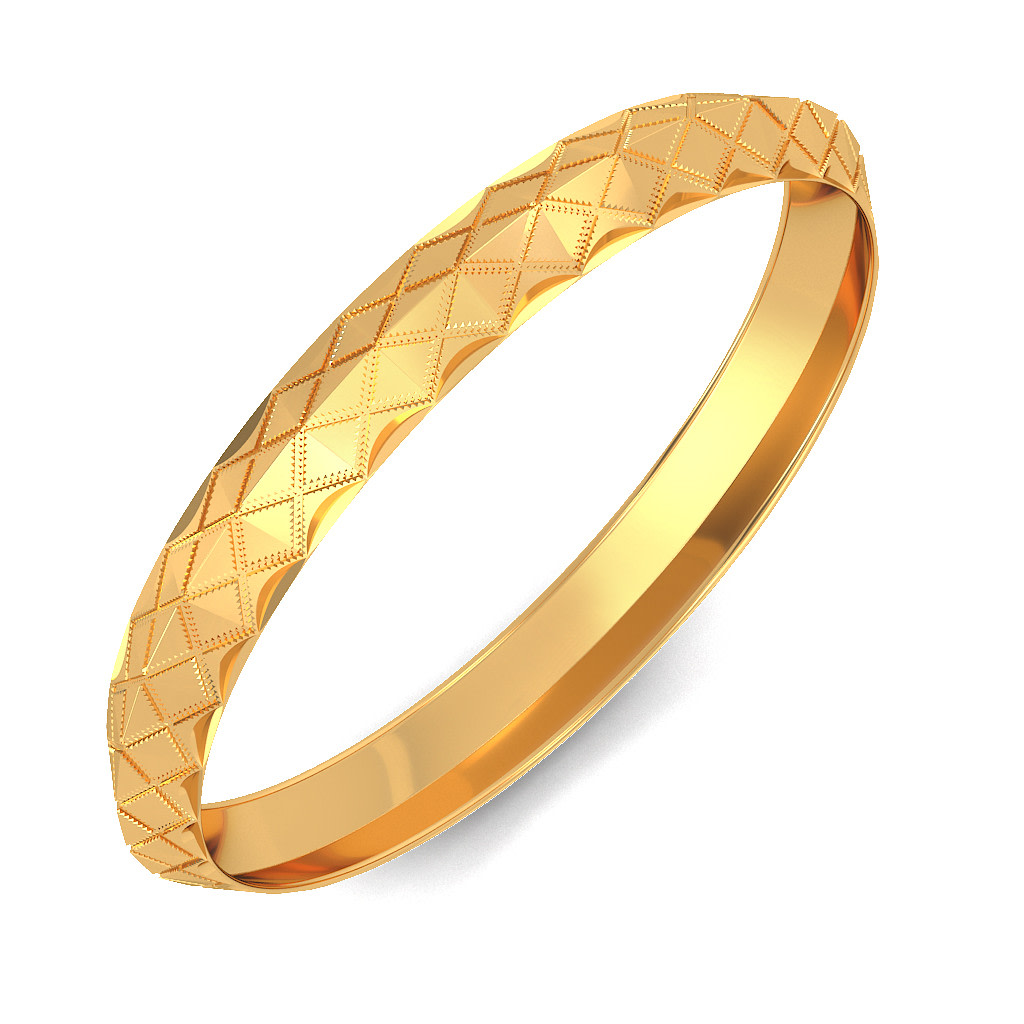 Buy Men\'s Gold Bangle Designs Online in India 2018 | BlueStone