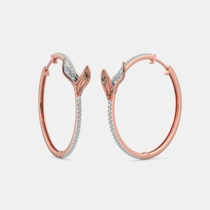 The Folium Roseate Hoop Earrings