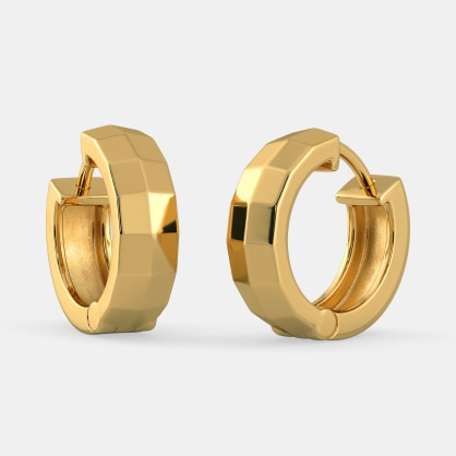The Vivaciously Designed Huggie Earrings