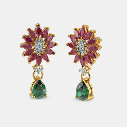 The Mystic Floriated Drop Earrings
