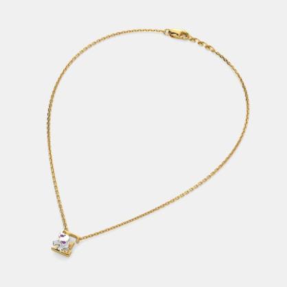 E for Elephant Necklace for Kids
