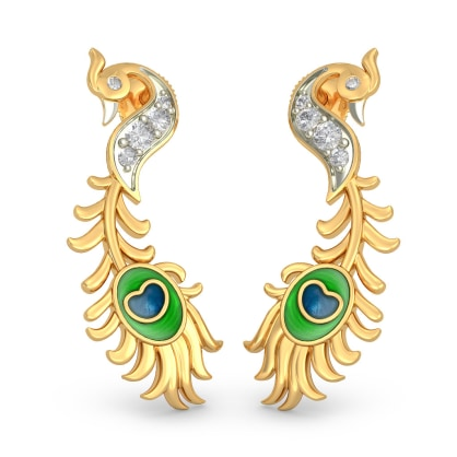 The Majestic Feather Earrings