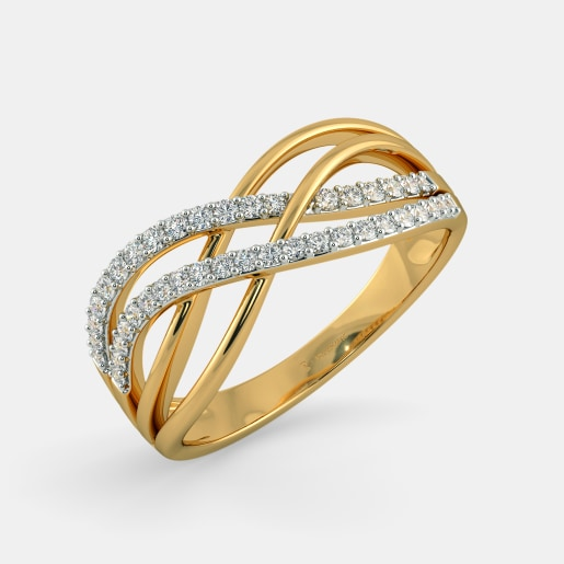 product design gold ring ladies finger detail long buy new rings
