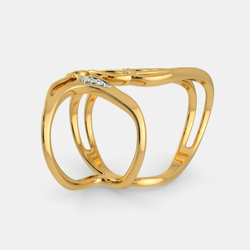 Diamond Ring In Yellow Gold (7 Gram) With Diamonds (0.055 Ct)