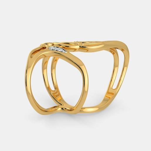 Diamond Ring In Yellow Gold (7 Gram) With Diamonds (0.055 Ct)