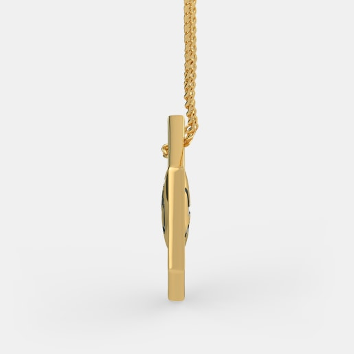 Diamond Pendant In Yellow Gold (3.76 Gram) With Diamonds (0.010 Ct)