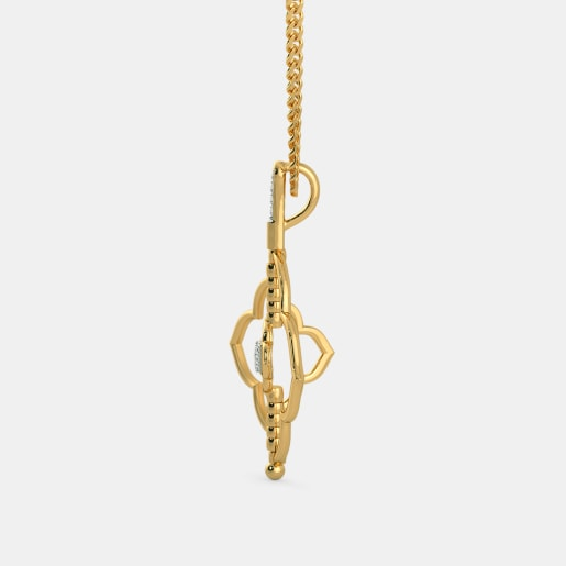 Diamond Pendant In Yellow Gold (3.17 Gram)
