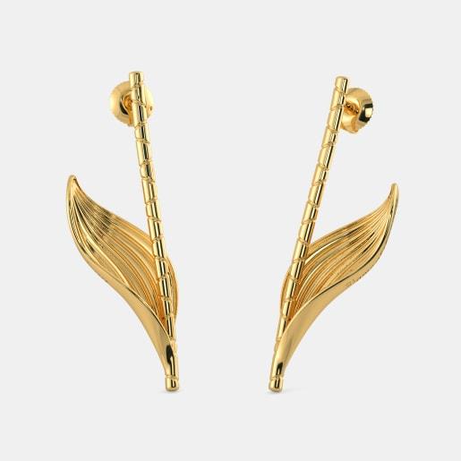 The Gold Blatt stick Drop Earrings