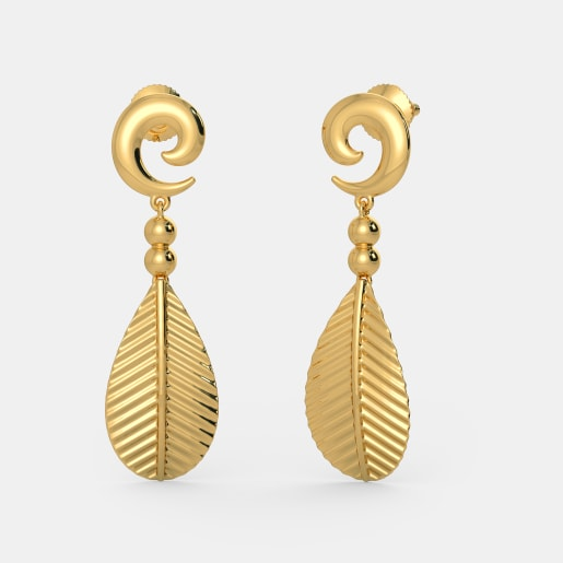 Perfect Buy 150 Plain Gold Earring Designs Online In India 2017  BlueStone