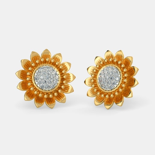The Heavenly Sunflower Earrings