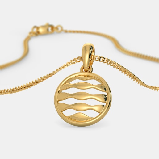 The Waves in Circle Pendant