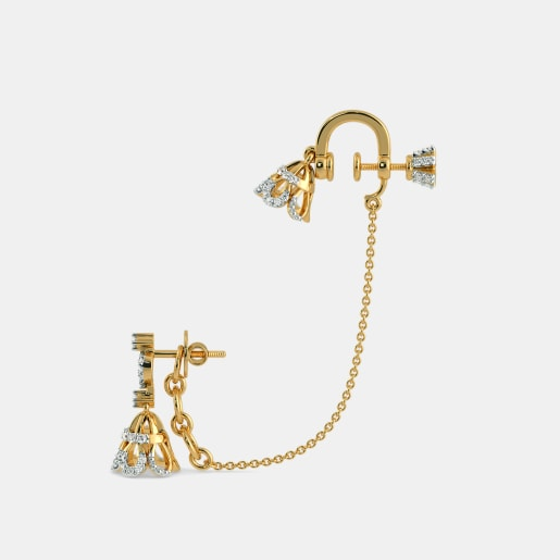 Diamond Earring In Yellow Gold (11.5 Gram) With Diamonds (0.838 Ct)