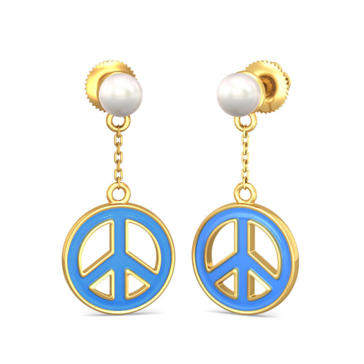 The Peace Out Earrings for Kids