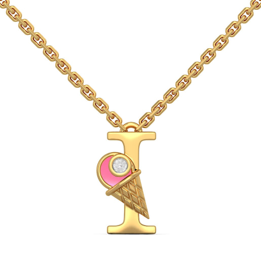 I for Ice Cream Necklace for Kids