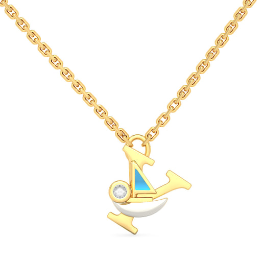 Y for Yacht Necklace for Kids