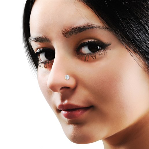 The Larkspur Nose Pin