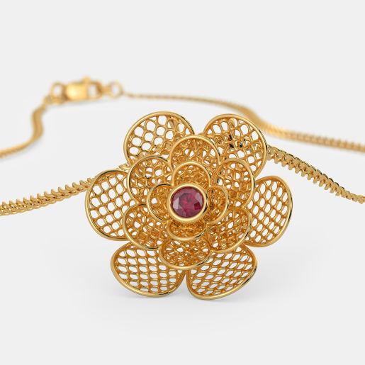 The Camellia Lattice Pendant